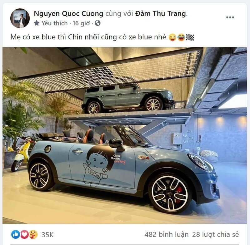 Cường Đô La mua siêu xe tiền tỷ tặng con gái cưng