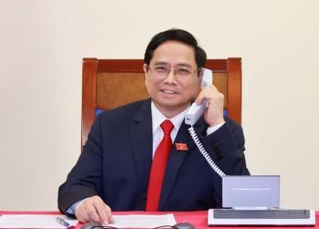 Thủ tướng Campuchia điện đàm chúc mừng Thủ tướng Chính phủ Phạm Minh Chính