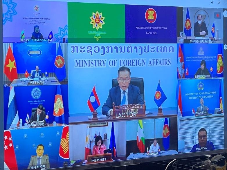 Thứ trưởng Ngoại giao Nguyễn Quốc Dũng tham dự Hội nghị Quan chức Cao cấp (SOM) ASEAN theo hình thức trực tuyến.