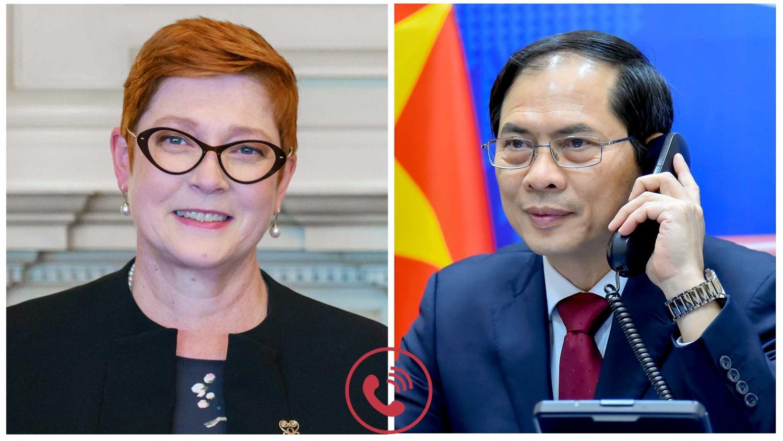 Bộ trưởng Ngoại giao Bùi Thanh Sơn trao đổi trực tuyến với Bộ trưởng ba nước Australia, Malaysia và Philippines