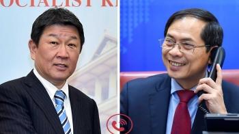 Bộ trưởng Ngoại giao Bùi Thanh Sơn điện đàm với Bộ trưởng Ngoại giao Nhật Bản