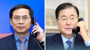Bộ trưởng Ngoại giao Bùi Thanh Sơn điện đàm với Bộ trưởng Ngoại giao Hàn Quốc