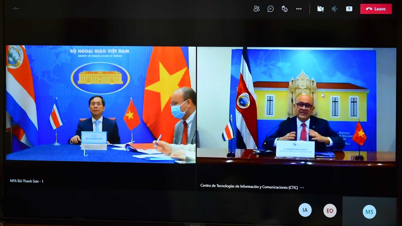 Hội đàm trực tuyến Việt Nam - Costa Rica