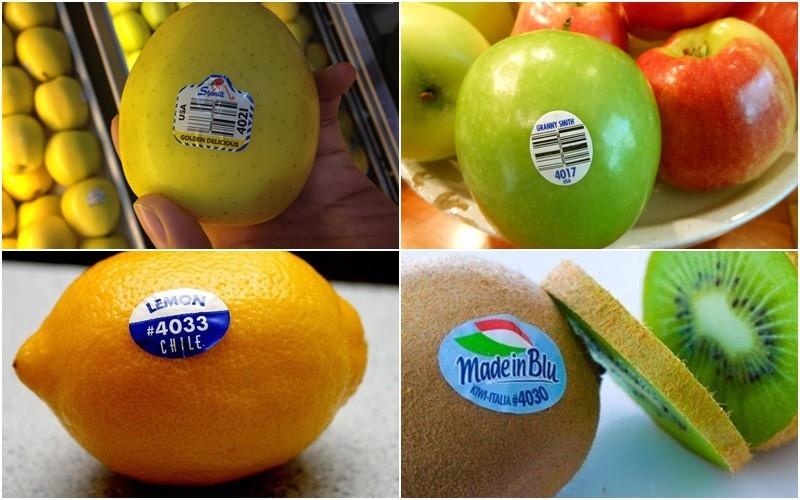 Ý nghĩa những mã số dán trên trái cây nhập khẩu