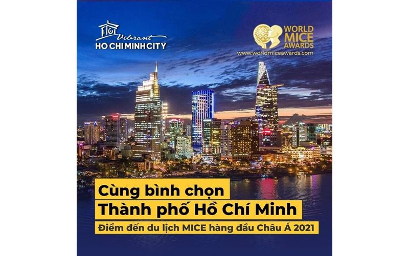 """TP HCM được đề cử """"Điểm đến du lịch MICE hàng đầu châu Á năm 2021"""""""