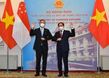Bộ trưởng Ngoại giao Bùi Thanh Sơn hội đàm với Bộ trưởng Ngoại giao Singapore