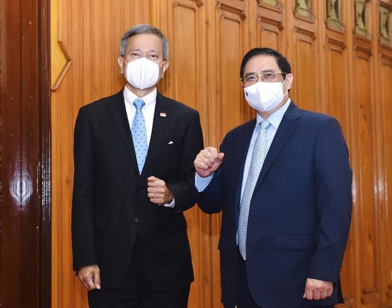 Thủ tướng Phạm Minh Chính tiếp Bộ trưởng Ngoại giao Singapore