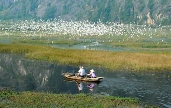Vân Long - Khu bảo tồn thiên nhiên đất ngập nước lớn nhất vùng đồng bằng châu thổ sông Hồng