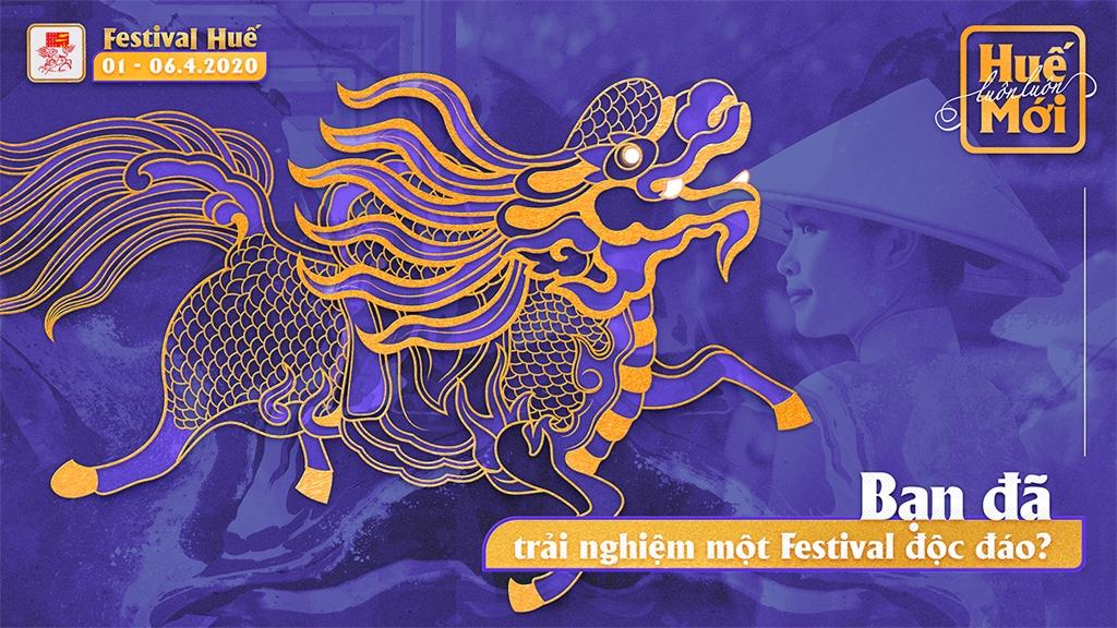 bo hinh anh nhan dien va poster cua festival hue 2020