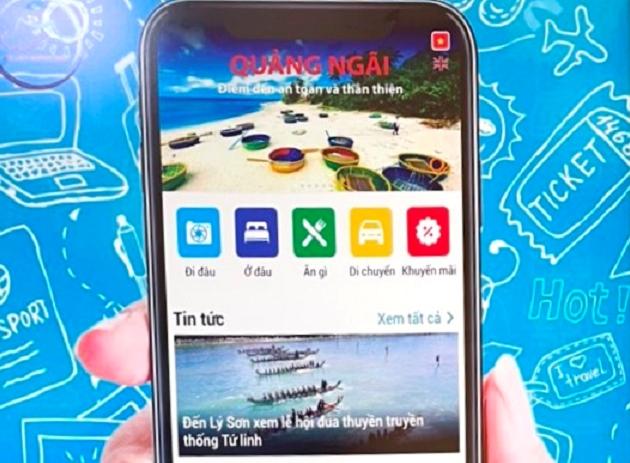 Quảng Ngãi ra mắt ứng dụng du lịch di động