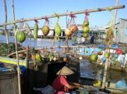 """""""Bẹo hàng"""" chợ nổi - Nét văn hóa thú vị của miền Tây Nam Bộ"""