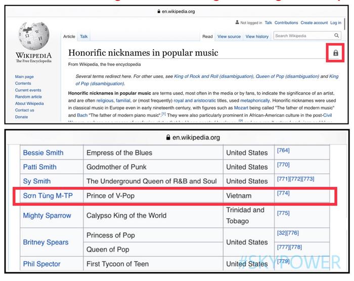 Sơn Tùng M-TP lọt vào danh sách nghệ sĩ có danh xưng cao quý do Wiki quốc tế tổng hợp