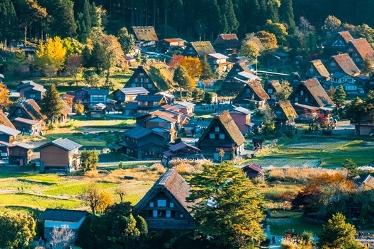 Vẻ đẹp cổ tích của ngôi làng Shirakawago tại Nhật Bản