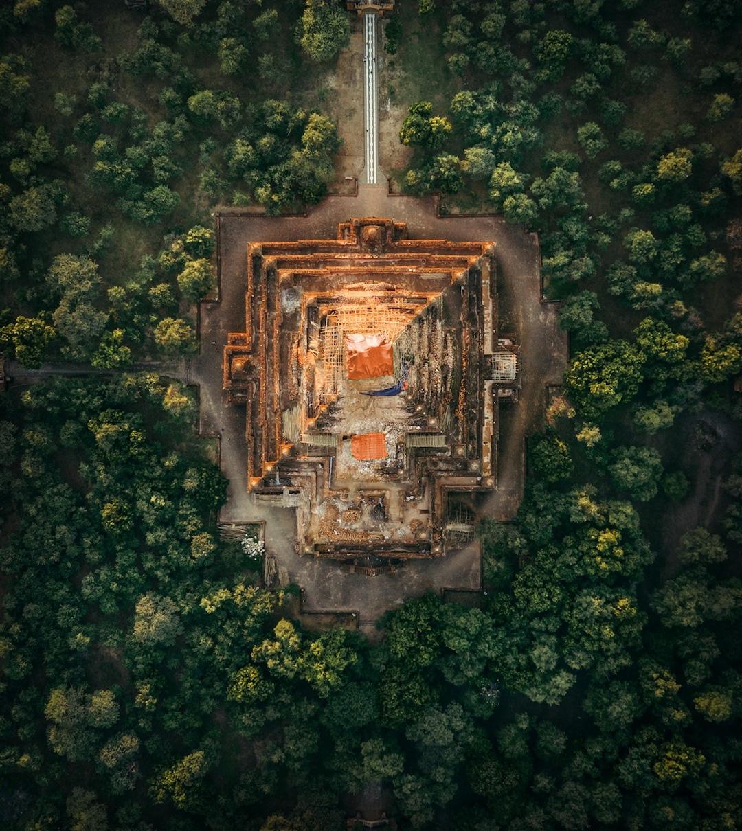 """Chiêm ngưỡng loạt ảnh từ trên cao, Myanmar xứng danh """" đất nước của những ngôi chùa"""