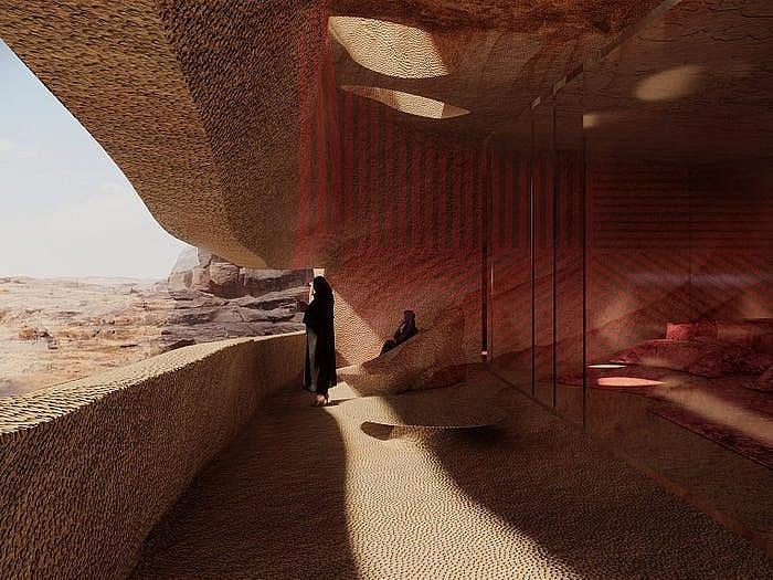Khách sạn ẩn mình trong núi đá sa thạch cổ