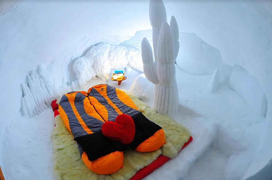 Trải nghiệm khách sạn bằng băng độc đáo và mới lạ