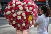 ke hoa trai tim 40 trieu dong ngay valentine