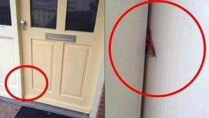 Cảnh báo: Hãy gọi cảnh sát ngay khi bạn nhìn thấy một mảnh bìa cứng ở giữa cửa!