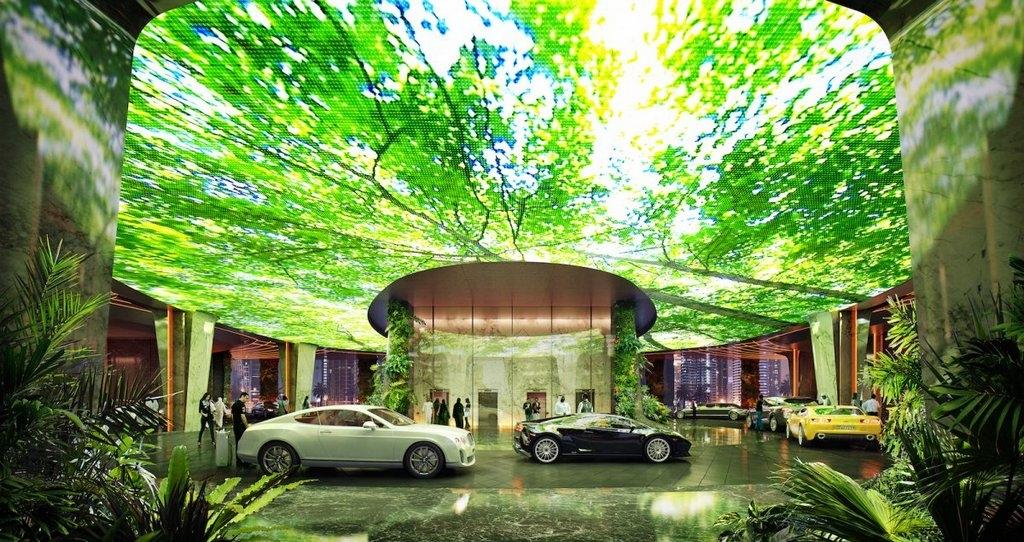 Dubai: Mang cả một khu rừng nhiệt đới vào khách sạn