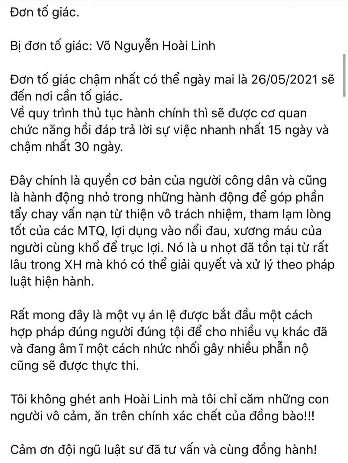 Xôn xao thông tin cô gái khởi kiện nghệ sĩ Hoài Linh