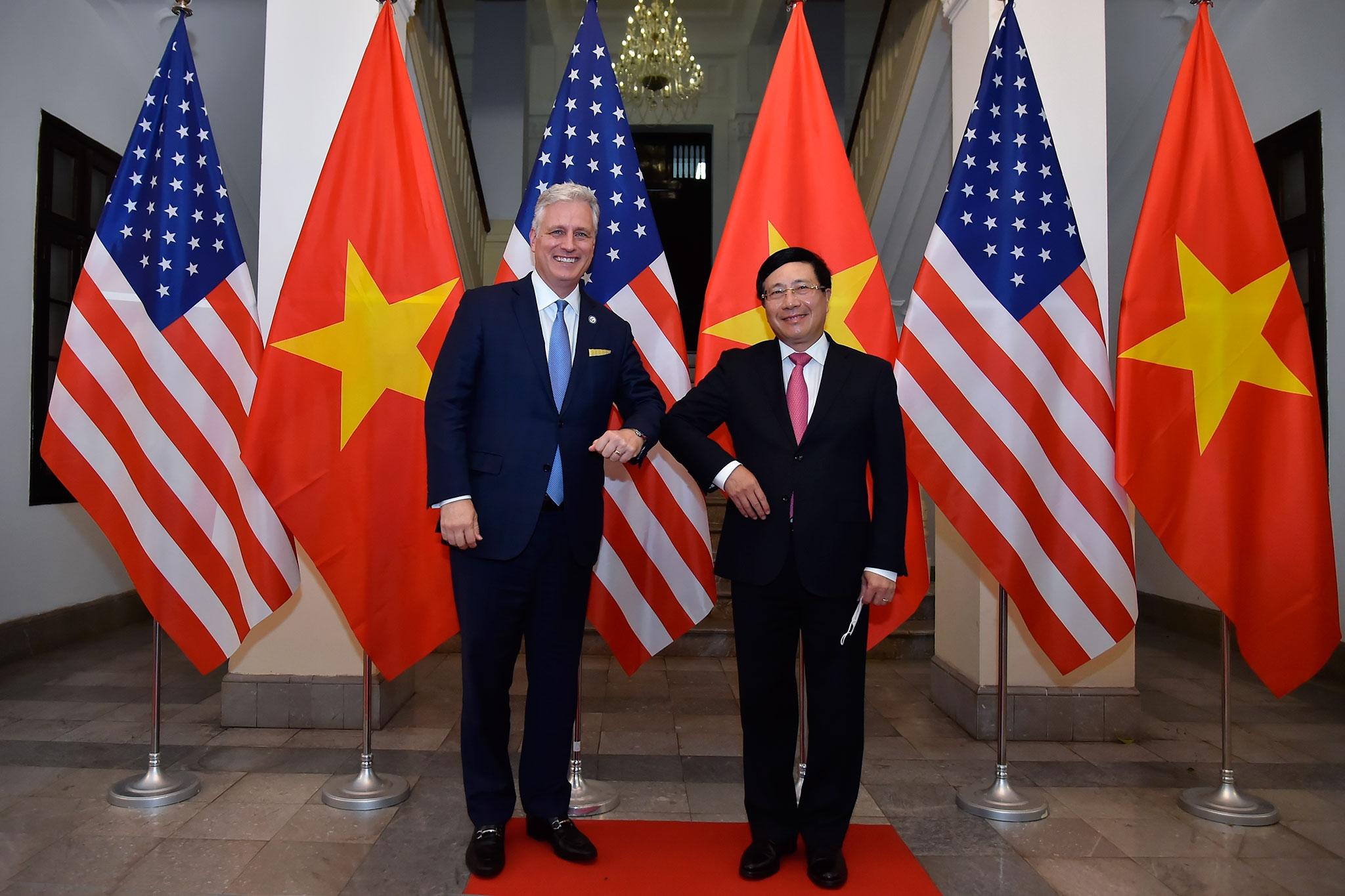 Tin Hội đàm giữa Phó Thủ tướng, Bộ trưởng Ngoại giao Phạm Bình Minh và Cố vấn An ninh quốc gia Hoa Kỳ Robert O'Brien