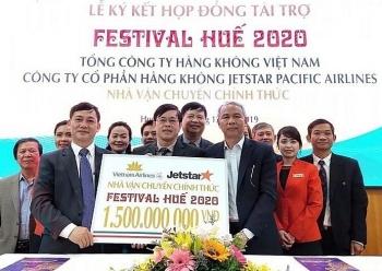 vietnam airline va jetstar pacific airline tro thanh nha van chuyen chinh thuc cho festival hue 2020