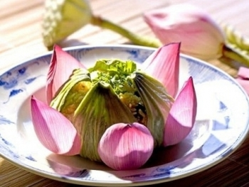 The delicate dishes from the lotus are delicious and attractive