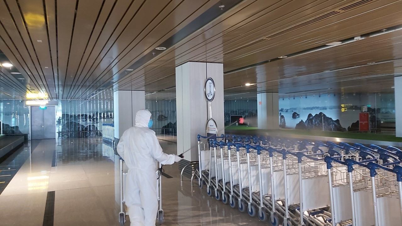To ensure the safety of the epidemic room, Van Don International Airport is ready to open its doors to welcome guests