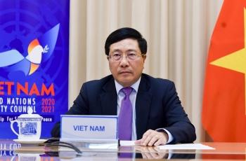 Phó Thủ tướng, Bộ trưởng Ngoại giao Phạm Bình Minh tham dự Phiên Thảo luận mở Cấp cao HĐBA LHQ ngày 04/12/2020